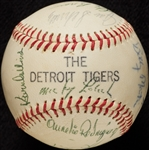 1971 Detroit Tigers Team-Signed Baseball (24)