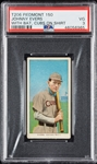 1909-11 T206 Johnny Evers With Bat, Cubs On Shirt (Piedmont 150) PSA 3