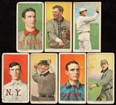 1909-11 T206 White Border Hall of Fame Group With Brown, Crawford (7)