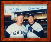 Mickey Mantle & Whitey Ford Signed 8x10 Photo (Graded BAS 10)