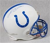 Johnny Unitas Signed Colts Full-Size Helmet (Graded BAS 9)