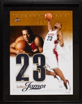 LeBron James Signed Numbers Display in Frame (UDA)