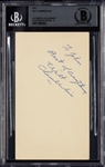 Wilt Chamberlain Signed GPC (1957) (Graded BAS 9)
