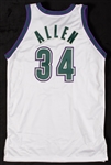 Ray Allen 1999-00 Game-Used & Signed Milwaukee Bucks Jersey (BAS)