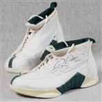 Ray Allen Game-Used & Signed Nike Air Jordan Shoes Pair (2) (BAS)