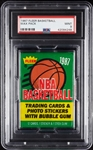 1987 Fleer Basketball Wax Pack (Graded PSA 9)