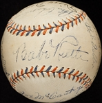 Babe Ruth, Lou Gehrig, Lazzeri, Dizzy Dean & Others Signed Baseball (13) (BAS)