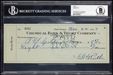 Babe Ruth Signed Check Written to A.G. Spalding Bros. (1937) (Graded BAS 9)
