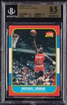 1986-87 Fleer Michael Jordan RC No. 57 BGS 9.5 (3 BGS 9.5 Subgrades)