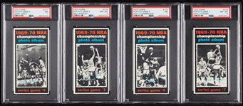 1970 Topps Playoff Games 4-7 PSA-Graded Group with Chamberlain (4)