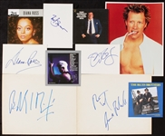 Legendary Singers Signed Index/Cuts with Billy Idol, Diana Ross (5)