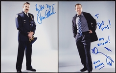 "Tom Selleck & Donnie Wahlberg Signed ""Blue Bloods"" Photos (2)"