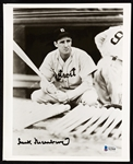 Hank Greenberg Signed 8x10 Photo (Graded BAS 10)