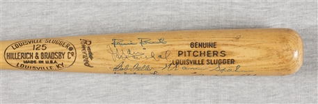Hall of Fame Pitchers Multi-Signed Bat (7) (BAS)