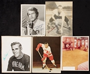 Signed Sports Notables Photo Group with Dick Vitale, Frank Gifford (20)