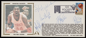 1994 Houston Rockets NBA Champs Multi-Signed FDC