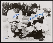 Yogi Berra & Bill Dickey Signed 8x10 Photo (Graded BAS 10)