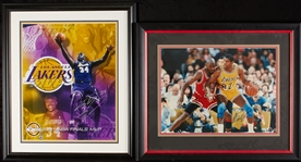 Shaquille ONeal & Magic Johnson Signed 16x20 Photos (2)