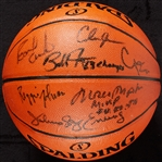 1983 Philadelphia 76ers NBA Champs Multi-Signed Basketball with Julius Erving (7)
