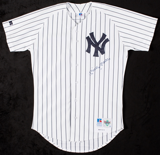 Mickey Mantle Signed Yankees Home Jersey (BAS)