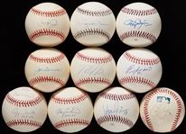 Single-Signed Baseballs Group with Mariano Rivera, Torre, Ripken (10)