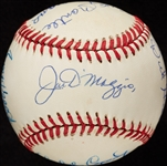 MVP Multi-Signed OAL Baseball with Mickey Mantle & Ted Williams (BAS)