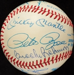 MVP Multi-Signed OAL Baseball with Mickey Mantle (BAS)