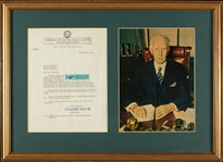 Connie Mack Signed Philadelphia Baseball Club Letter Display (1951) (Graded BAS 10)