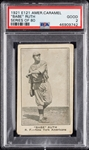 "1921 E121 American Caramel Babe Ruth ""Series of 80"" PSA 2"