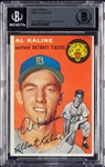 Al Kaline Signed 1954 Topps RC No. 201 (Graded BAS 9)