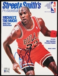 Michael Jordan Signed Street & Smiths Magazine (1990-91) (Graded BAS 10)