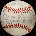 1964 National League All-Star Team-Signed ONL Baseball with Roberto Clemente (26) (BAS)