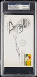 Mickey Mantle Signed First Day Cover (Graded PSA/DNA 10)