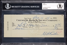 Babe Ruth Signed Check (Dec. 15, 1938) (BAS)