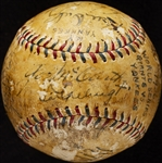 1936 World Series Multi-Signed Baseball (15) (BAS)