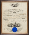 Andrew Johnson Signed Presidential Appointment (BAS)