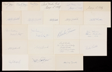 1910-1919 Signed Index Card Collection (388)