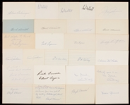 1920-1929 Signed Index Card Collection (551)
