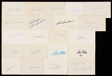 1930-1939 Signed Index Card Collection (602)