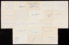1940-1949 Signed Index Card Collection (457)
