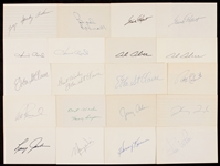 1950-1959 Signed Index Card Collection (323)