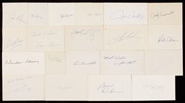 1960-1969 Signed Index Card Collection (291)
