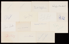 1970-1987 Signed Index Card Collection (522)