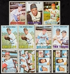 Signed 1967 Topps Baseball Card Collection (178)
