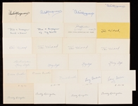 Turn of the Century 1892-1909 Signed Index Card Collection (72)