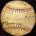 1932 Chicago Cubs World Series Multi-Signed Baseball (14) (BAS)