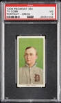 1909-11 T206 Ty Cobb Green Background (Piedmont 350) PSA 3