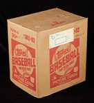 1982 Topps Baseball Wax Box Sealed Case (20/36)