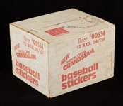 1977 Fleer Baseball Stickers Unopened Wax Case (12/24)