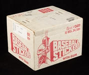 1979 Fleer Baseball Stickers Unopened Wax Case (12/24)